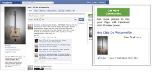 Image showing a Facebook advert on right hand side